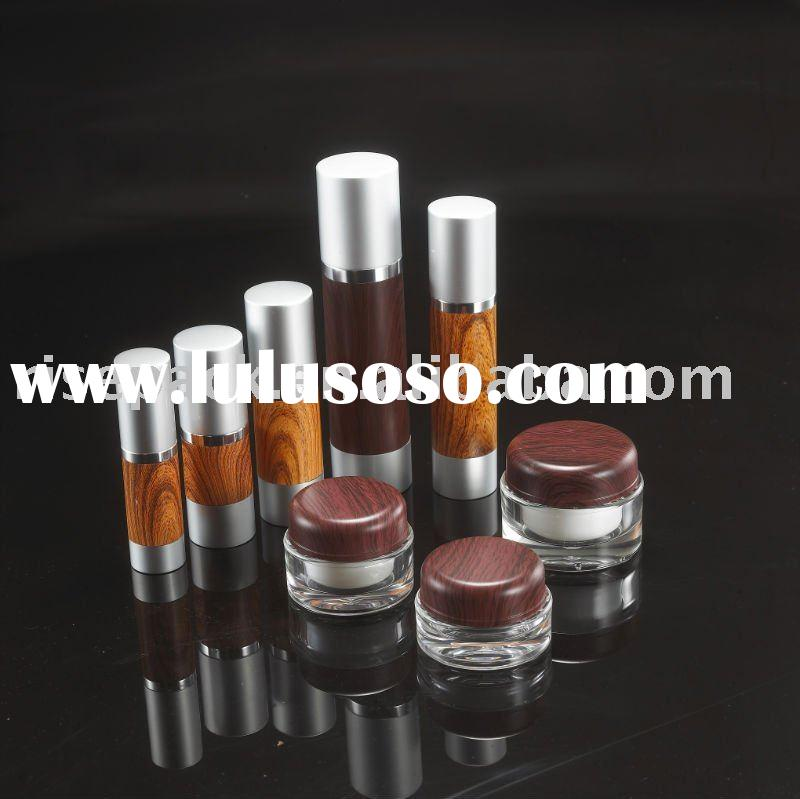 Grained Cosmetic Packaging Airless Round Pump Bottle and Cream jar