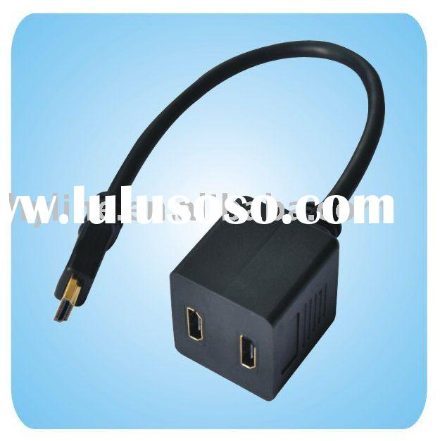 HDMI Male To 2x HDMI Female Y Splitter Adapter Cable