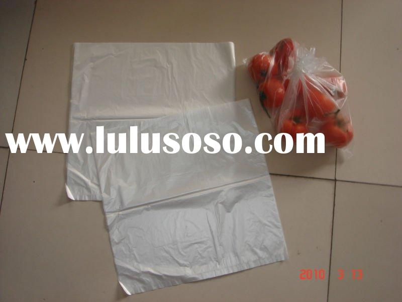HDPE food flat plastic bag on roll