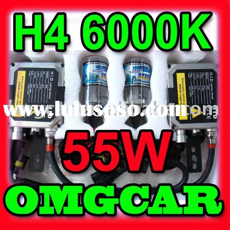 HID XENON conversion Kit 55w H4 6000K Single beam