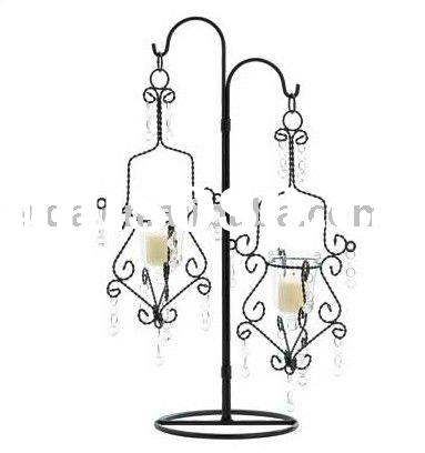 Hanging Crystal Drop Votive Candle Holders on Table Stand