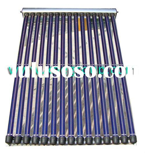 Heat pipe solar power collector hot water heating system