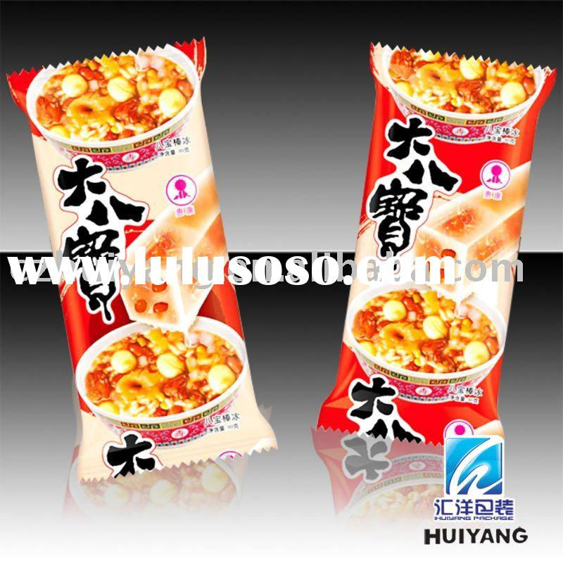 Heat seal plastic frozen food packaging bag