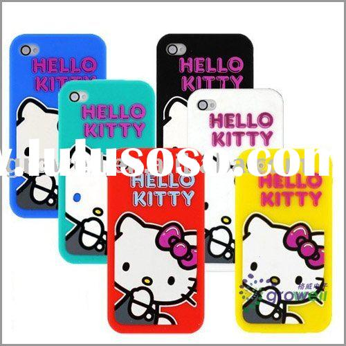 Hello kitty silicone case for iphone 4