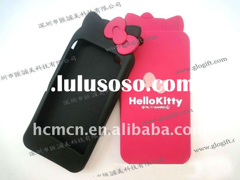 Hello kitty silicone phone case for iphone 4g