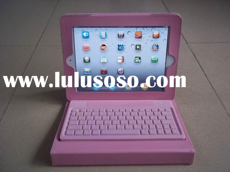 High-quality pu leather case with keyboard for iPad 2