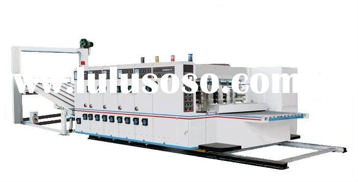 High speed Flexo Printing, Slotting, Die-cutting and stacking Machine