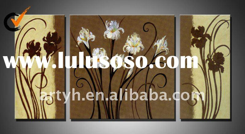 Hot Sell Handmade Abstract Modern Decorative Canvas Flower Oil Painting
