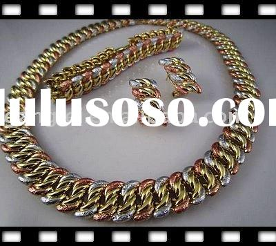 Imitation Gold Plated Alloy African Jewelry Set