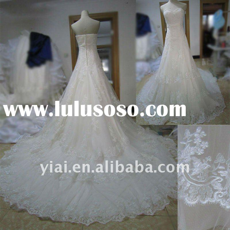 JJ2724 Beaded Ball gown Lace Bridal wedding Gown