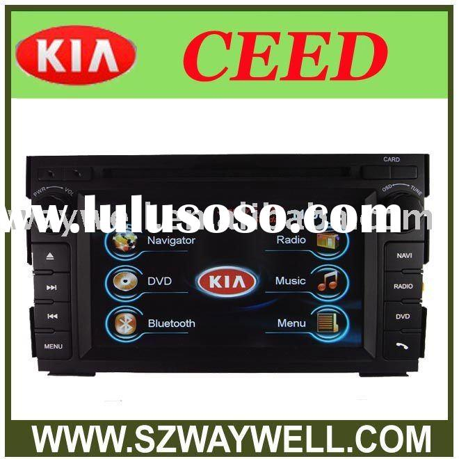 KIA CEED auto DVD 2 Din HD Car DVD with GPS navigation Blue tooth/I-POD control/Radio/Amplifier