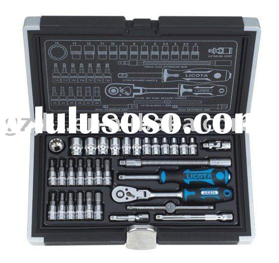 "LICOTA 33 PCS 1/4"" DR. Flexible Ratchet Socket Wrench"