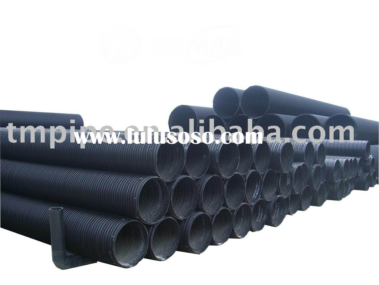 Large Diameter Steel Reinforced Corrugated HDPE Drainage Pipe