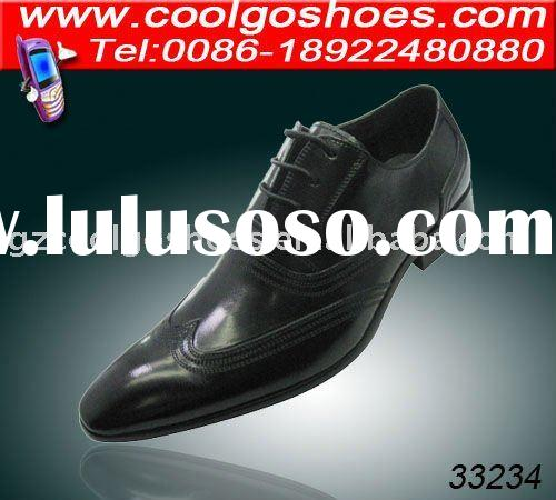 new italy design men leather shoes & dress shoes with breathable and