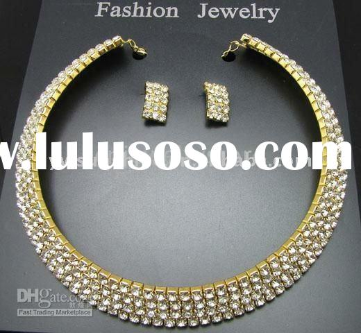 Latest fashion wedding bridal diamond necklace set
