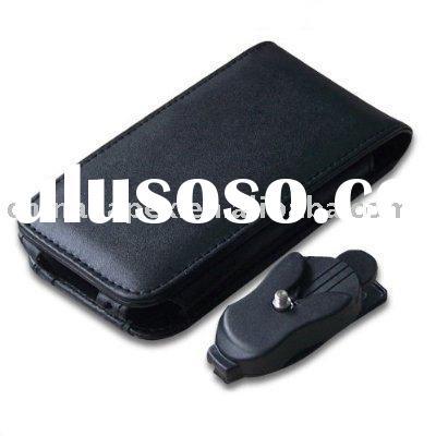 Leather Case Cover with belt clip for Iphone 3G, 3GS
