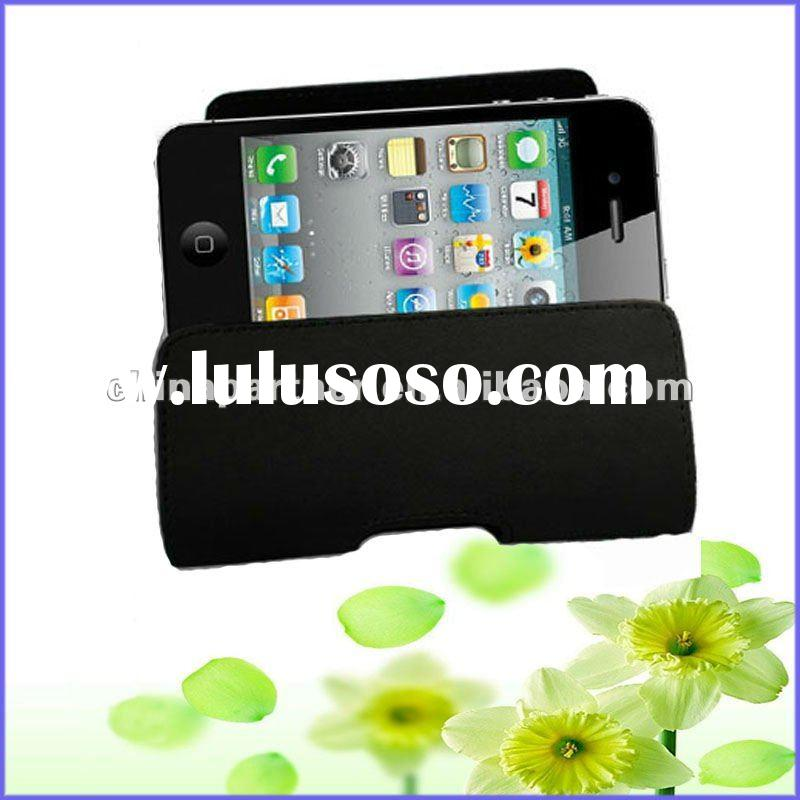 Leather Case for iPhone 4s Pouch with A Belt Clip