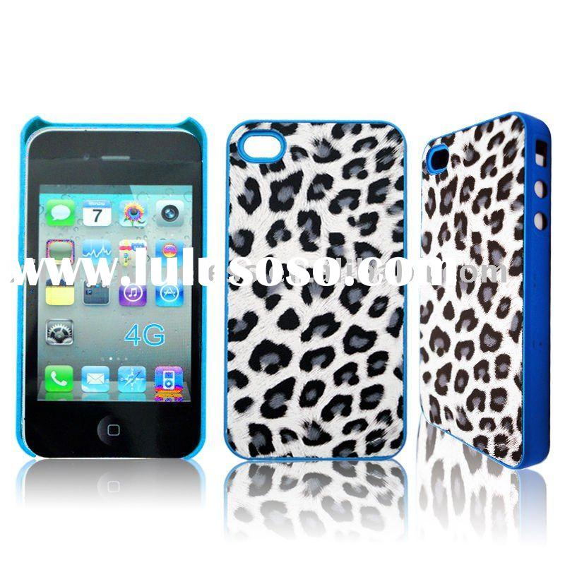 Leopard Leather Skin Case Back Cover Housing For iPhone 3G 3GS 4G Blackberry 8520 9700