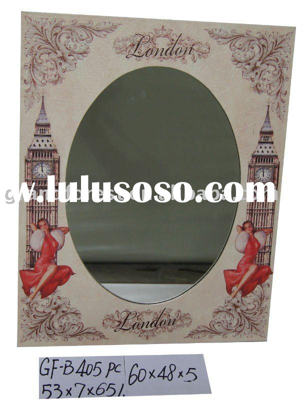 London big ben decoration wooden frame mirrors with faux leather cover