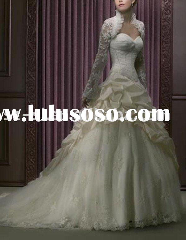 Long sleeve Cheap Wedding Gown(Bridal Wedding Dress)-SL-A934