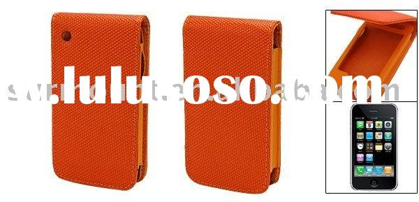 Magnetic Flip Fabric Cover Leather Case for iPhone 3G