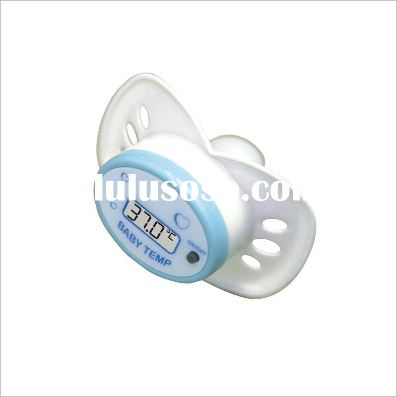 Medical Device Digital Fahrenheit / Celsius Baby Pacifier Thermometer