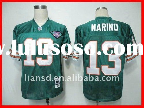 Miami Dolphins 13 13 Dan Marino blue and trowback Football jersey cheap jersey blank jersey