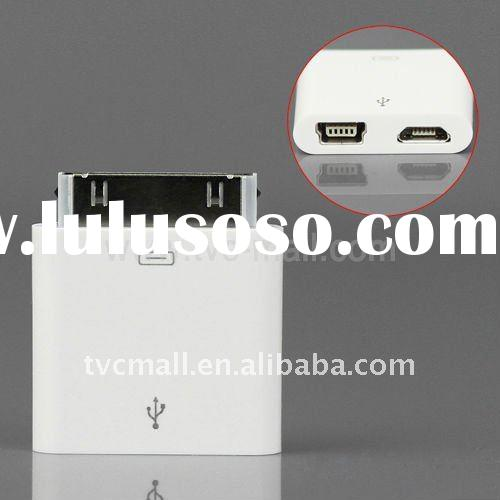 Micro/Mini USB Female to 30pin Dock Male Charger Adapter for iPhone 4 / 4S / 4G / 3G / 3GS / iPad 2