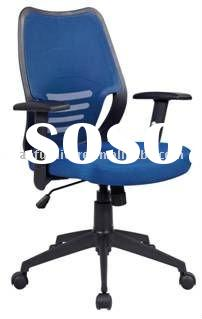 Middle back blue mesh office swivel chair