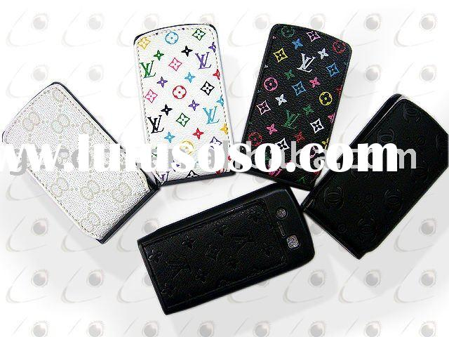 Mobile phone luxurious style leather case for Blackberry 8900