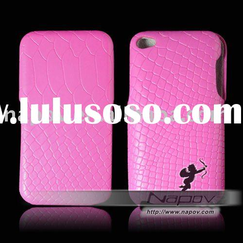 Napov high quality leather flip case for ipod touch 4 4g