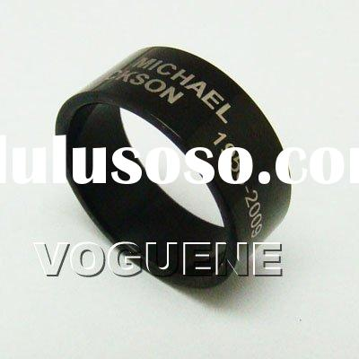New Michael Jackson King Of Pop Black Ring