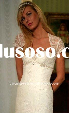 New style sweetheart neck with lace jacket wedding dresses 2012lace wedding