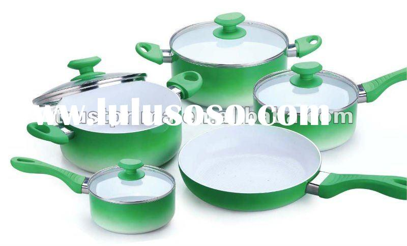 Non Stick Ceramic Coating Aluminum Cookware Set( Mini Frying Pan , Sauce Pan ,Fry Pan Sauce Pot)
