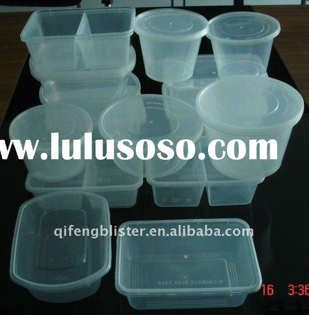 PP Disposable /takeaway clear plastic food container/plate/box/bowl/cup supplier/manufacture