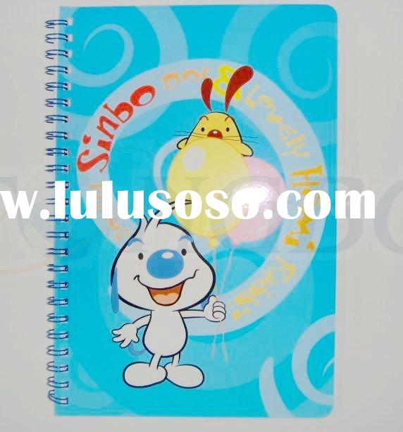 PP hardcover recycled cute notebook paper