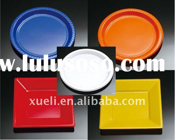 PS colorful disposable plastic plates/dishes