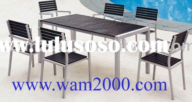 Patio,garden poly wood dining table and chair for outdoor:2 seaters
