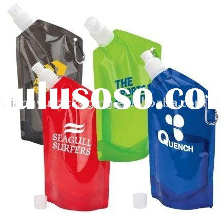 Plastic water packaging bag,stand up water pouch with spout
