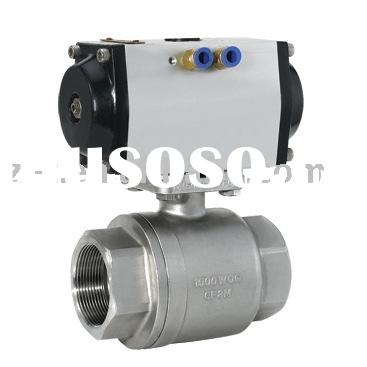 Pneumatic 2pc ball valve,ISO5211 mounting pad ball valve,stainless steel ball valve