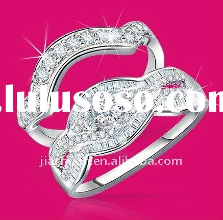 Popular 1 Carat Diamond 18K White Gold Wedding Rings