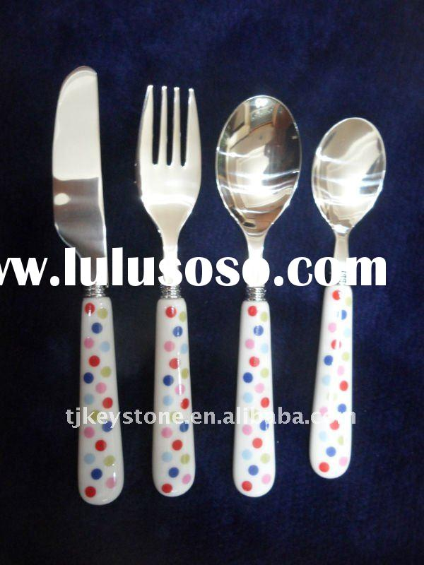 Porcelain Handle 015 ss table cutlery(Stainless Steel Flatware)