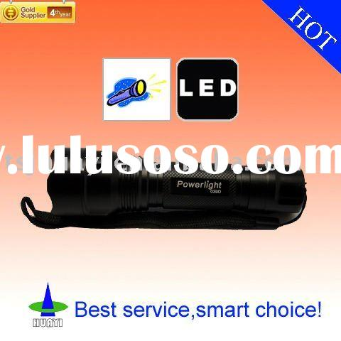 Powerlight 039D CREE Q3 3-Mode 230-Lumen LED Flashlight Torch (3*AAA/1*18650) -- Black