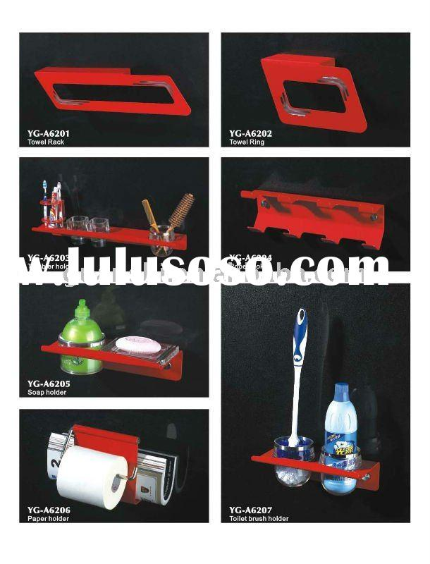 Pro-environment,anti-abrasive and rust free aluminum bathroom accessories set YG-A6200 series