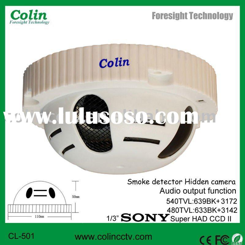 Professional Manufacturer With Audio and Vedio output function CCTV Smoke Detector Hidden Camera