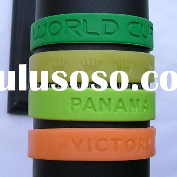 Promotional Colorful Printed/Debossed/Embossed Silicone Bracelet