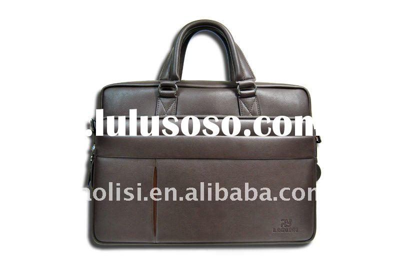 Promotional cheap leather laptop bag for men