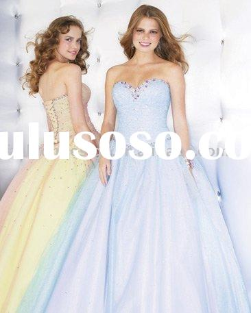 RQ062 Elegant classic tulle with rhinestones puffy prom dress Quinceanera Dresses