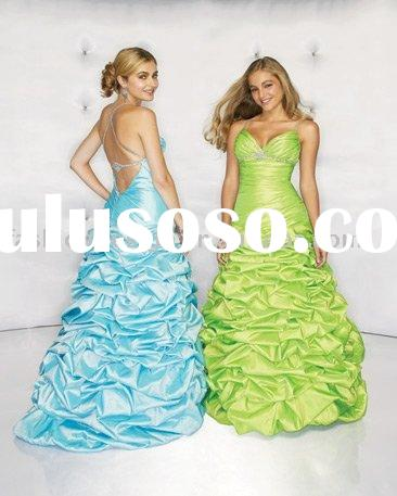 RQ080 Elegant classic ruffles rhinestones crystals puffy prom dress Quinceanera Dresses