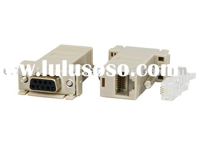RS232 to RJ45 connector ,DB25, DVI and VGA adapters